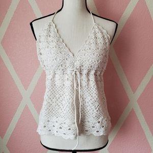 2/$12 🎉 Newport Crochet Halter Top